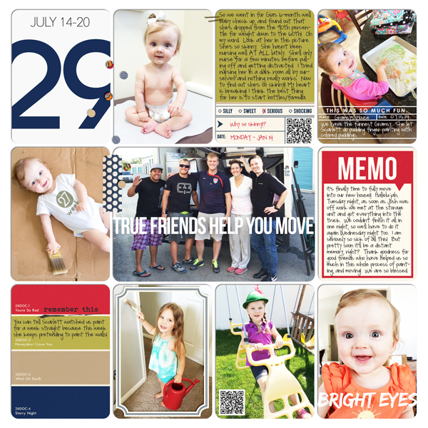 Week 29 digital pocket scrapbooking layout by britt featuring Photo Journal No. 1 (Word Arts & Templates) by Sahlin Studio