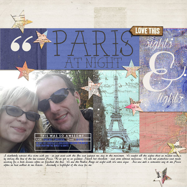 Paris digital scrapbooking page by norton94 featuring Photo Journal No. 1 (Word Arts & Templates) by Sahlin Studio