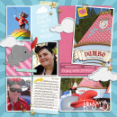 Flying with Dumbo digital pocket scrapbooking page by yzerbear19 featuring Photo Journal No. 1 (Word Arts & Templates) by Sahlin Studio
