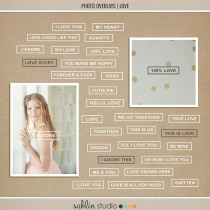 photo overlays: love by Sahlin Studio Perfect for adding to your Project Life photos!!