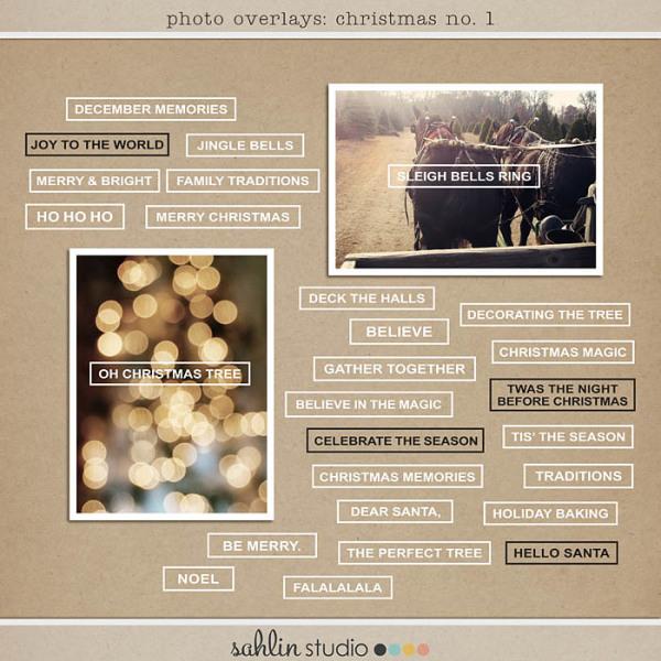 Photo Overlays: Christmas no. 1 by Sahlin Studio