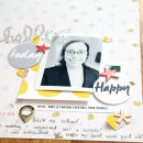 Hello & Happy paper scrapbooking page by Cristina featuring Shine Bright Kit and Journal Cards by Sahlin Studio