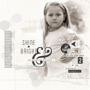 Shine Bright digital scrapbooking page by KatherineB featuring Shine Bright Kit and Journal Cards by Sahlin Studio