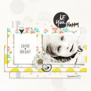 Shine Bright digital scrapbooking page by louso featuring Shine Bright Kit and Journal Cards by Sahlin Studio