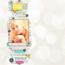 Be You digital scrapbooking page by pne123 featuring Shine Bright Kit and Journal Cards by Sahlin Studio