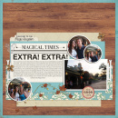 Extra Extra digital scrapbooking layout created by melidy featuring Year of Templates vol 14 by Sahlin Studio