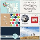 Smile Today digital pocket scrapbooking page by FarrahJobling using MPM Charmed and Add-Ons by Sahlin Studio