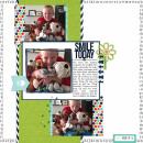 Smile Today digital scrapbooking page by mamatothree using MPM Charmed and Add-Ons by Sahlin Studio