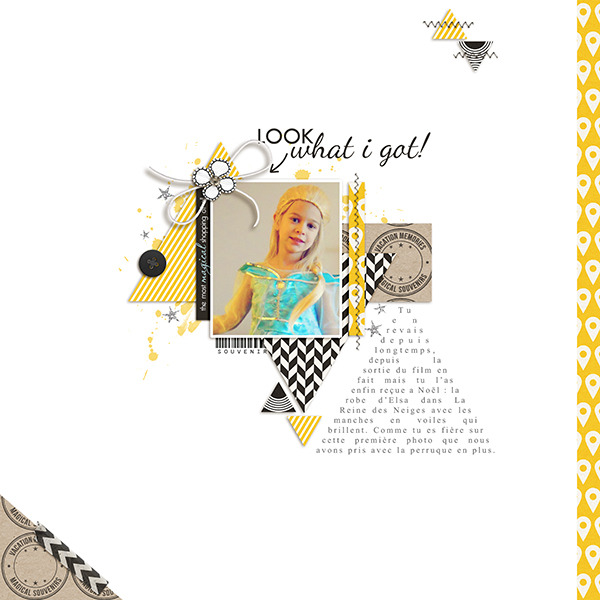 Look What I Got digital scrapbooking page by Arumrose using Project Mouse (SouvenEARS) by Britt-ish Designs and Sahlin Studio