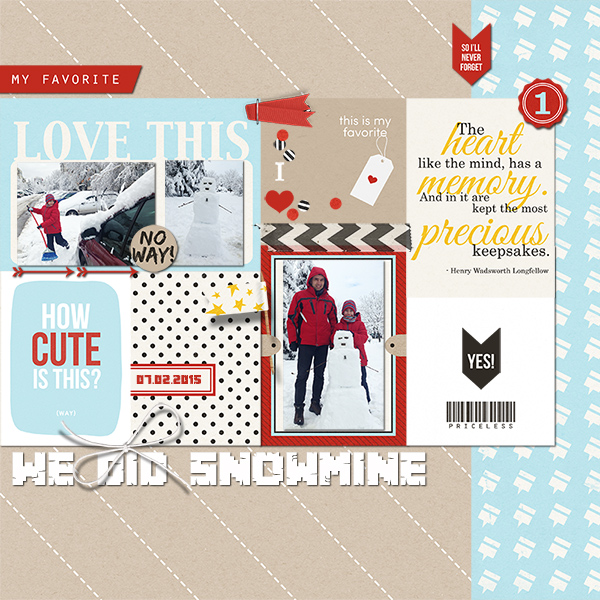 We Did Snowmine digital scrapbooking page by Damayanti using Project Mouse (SouvenEARS) by Britt-ish Designs and Sahlin Studio