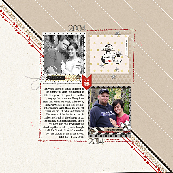 Ten Years digital scrapbooking page by T.N.Anderson using Project Mouse (SouvenEARS) by Britt-ish Designs and Sahlin Studio