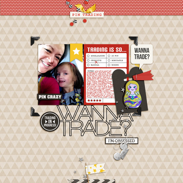 Disney Wanna Trade? digital scrapbooking page by neeceebee using Project Mouse (SouvenEARS) by Britt-ish Designs and Sahlin Studio