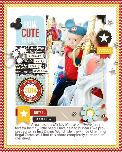 How Cute Is This Disney digital scrapbooking page by raquels using Project Mouse (SouvenEARS) by Britt-ish Designs and Sahlin Studio