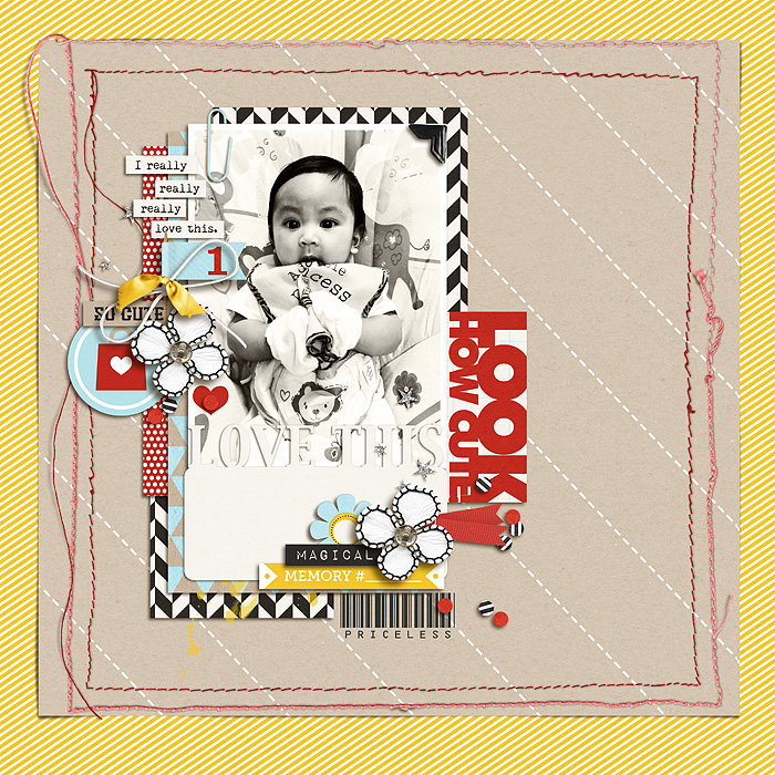 Look How Cute digital scrapbooking page by scrappydonna using Project Mouse (SouvenEARS) by Britt-ish Designs and Sahlin Studio