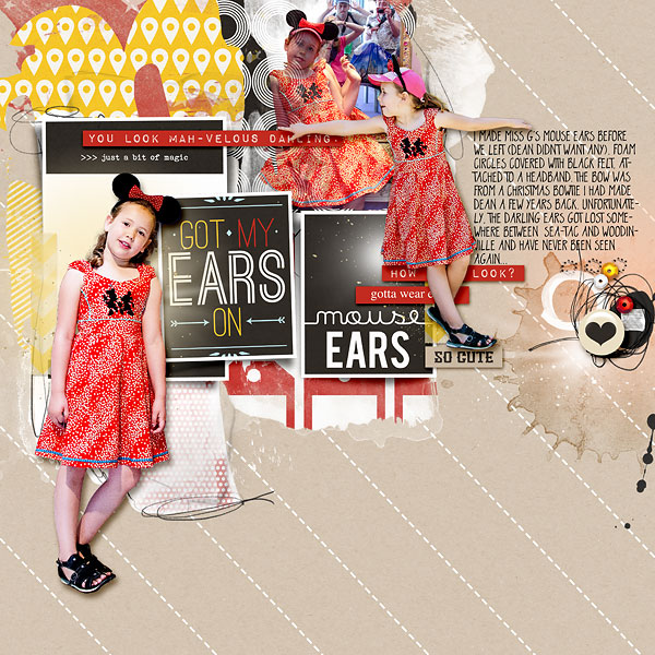 Disney Mouse ears digital scrapbooking page by amberr using Project Mouse (SouvenEARS) by Britt-ish Designs and Sahlin Studio