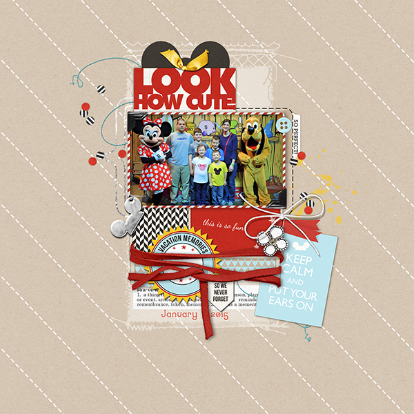 Disney vacation digital scrapbooking page by amymallory using Project Mouse (SouvenEARS) by Britt-ish Designs and Sahlin Studio