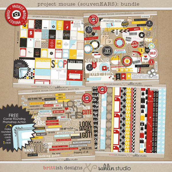 Project Mouse (SouvenEARS): BUNDLE by Britt-ish Designs and Sahlin Studio - Perfect for your Project Life or Project Mouse album!!
