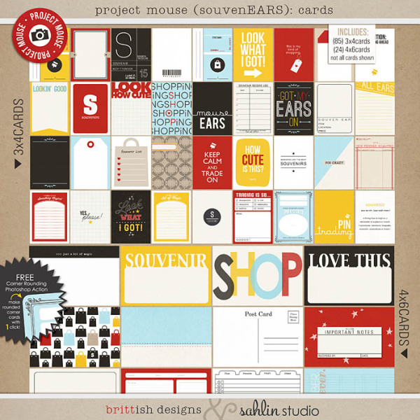 Project Mouse (SouvenEARS): Journal Cards by Britt-ish Designs and Sahlin Studio - Perfect for your Project Life or Project Mouse album!!