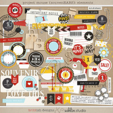 Project Mouse (SouvenEARS): Elements by Britt-ish Designs and Sahlin Studio - Perfect for your Project Life or Project Mouse album!!