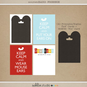 SouvenEARS FREEBIE by Sahlin Studio - Perfect for documenting your Disney Souvenirs in your Project Life or Project Mouse album!!