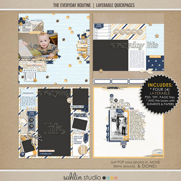 The Everyday Routine (Layered Quickpages) by Sahlin Studio