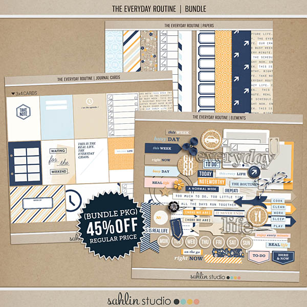 The Everyday Routine (BUNDLE) by Sahlin Studio - Perfect for your Project Life album!!