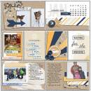 Real Life digital pocket scrapbooking page by FarrahJobling using The Everyday Routine by Sahlin Studio
