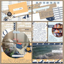 This Crazy Life digital pocket scrapbooking page by KayTeaPea using The Everyday Routine by Sahlin Studio
