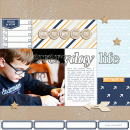 Everyday Life digital scrapbooking page by NancyBeck using The Everyday Routine by Sahlin Studio