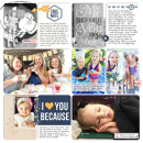 Week 31 digital pocket scrapbooking double page by britt using The Everyday Routine by Sahlin Studio