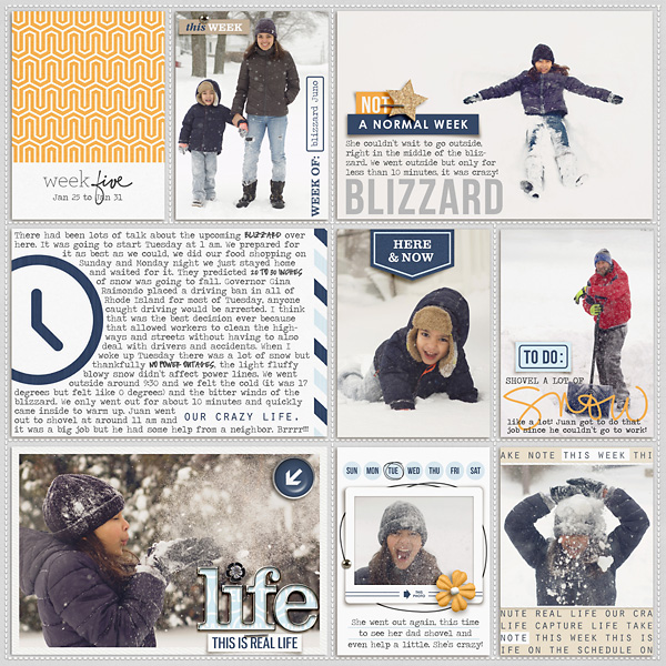 Week 5 digital pocketscrapbooking double page by mrivas2181 using The Everyday Routine by Sahlin Studio