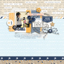 Enjoy every minute digital scrapbooking page by raquels using The Everyday Routine by Sahlin Studio