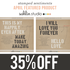 April Featured Product - Stamped Sentiments by Sahlin Studio