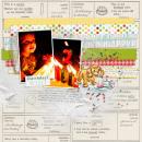 Happy Birthday digital scrapbooking page by askings using Birthday Cake by Sahlin Studio