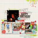Happy Birthday digital scrapbooking page by dvhoward using Birthday Cake by Sahlin Studio