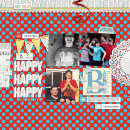 Happy Birthday digital scrapbooking page by neeceebee using Birthday Cake by Sahlin Studio