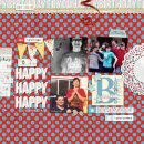 Happy Birthday digital scrapbooking page by neeceebee using Birthday Cake by Sahlin Studio
