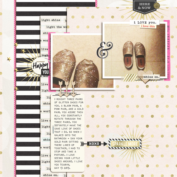 digital scrapbooking layout created by T.N.Anderson featuring March 2015 FREE Template by Sahlin Studio