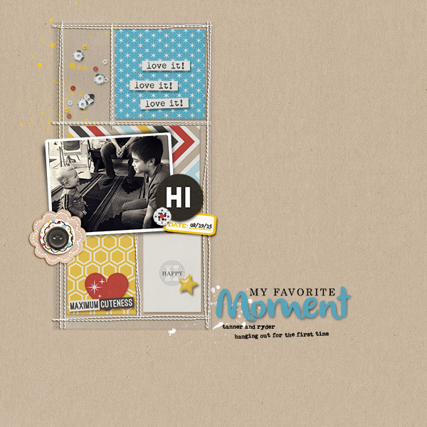 My Favorite Moment digital scrapbooking page by Natasha using Project Mouse Basics (No.2) by Britt-ish Designs & Sahlin Studio