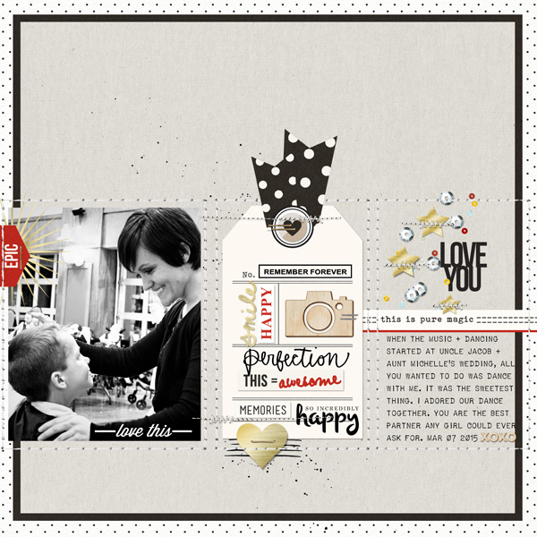 Love You digital scrapbooking page by T.N.Anderson using Project Mouse Basics (No.2) by Britt-ish Designs & Sahlin Studio