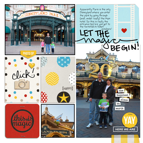 Let The Magic Begin Disney digital Project Life pocket scrapbooking page by bellbird using Project Mouse Basics (No.2) by Britt-ish Designs & Sahlin Studio