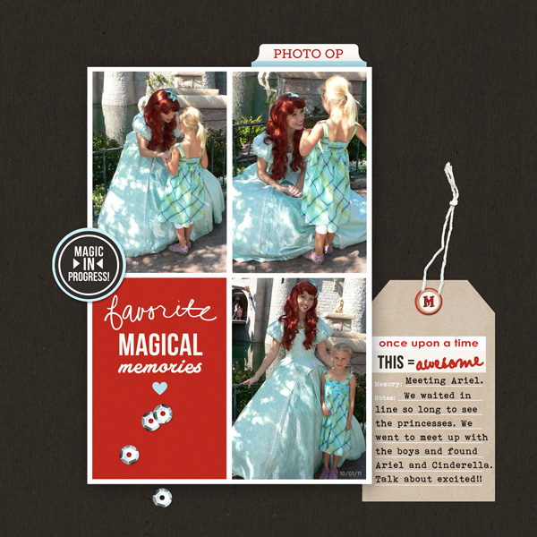 Favorite Magical Memories digital scrapbooking page by ctmm4 using Project Mouse Basics (No.2) by Britt-ish Designs & Sahlin Studio