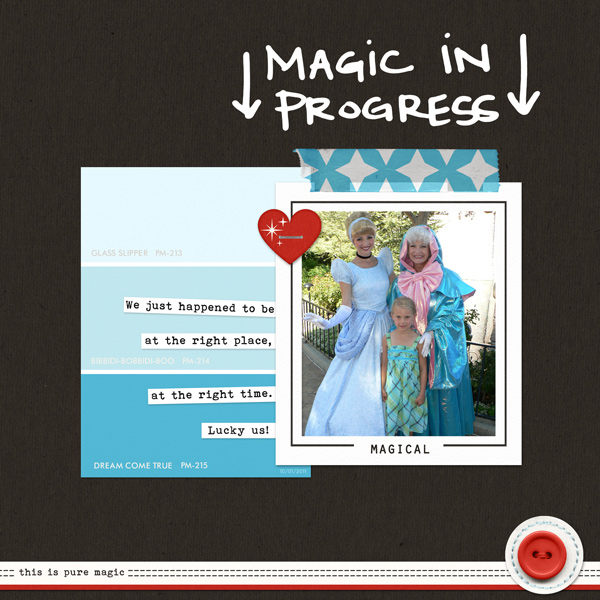 Magic In Progress digital scrapbooking page by ctmm4 using Project Mouse Basics (No.2) by Britt-ish Designs & Sahlin Studio