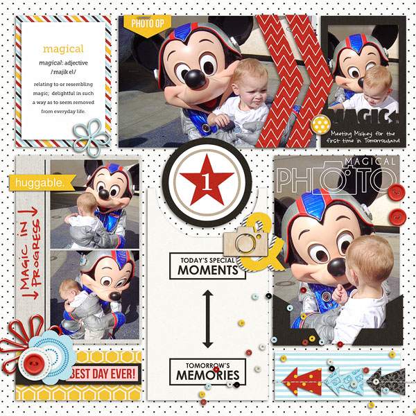 Disney Magical Photo digital pocket scrapbooking page by erica using Project Mouse Basics (No.2) by Britt-ish Designs & Sahlin Studio