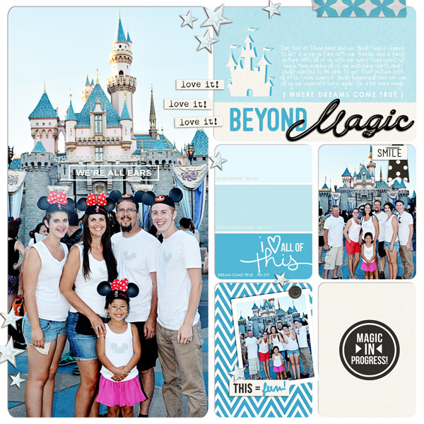 Beyond Magic Disney digital Project Life pocket scrapbooking page by fonnetta using Project Mouse Basics (No.2) by Britt-ish Designs & Sahlin Studio