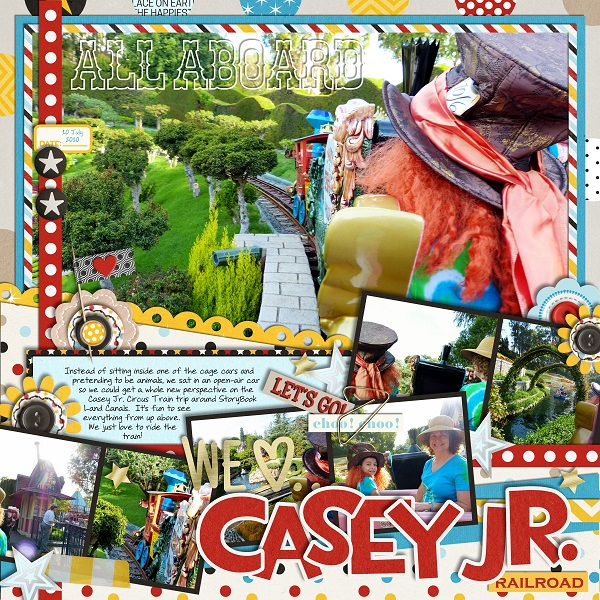 Disney Casey Jr digital scrapbooking page by jan using Project Mouse Basics (No.2) by Britt-ish Designs & Sahlin Studio