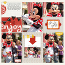 Disney Minnie Meet and Greet digital pocket scrapbooking page by kelsy using Project Mouse Basics (No.2) by Britt-ish Designs & Sahlin Studio