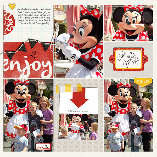 Disney Minnie Meet and Greet digital Project Life pocket scrapbooking page by kelsy using Project Mouse Basics (No.2) by Britt-ish Designs & Sahlin Studio