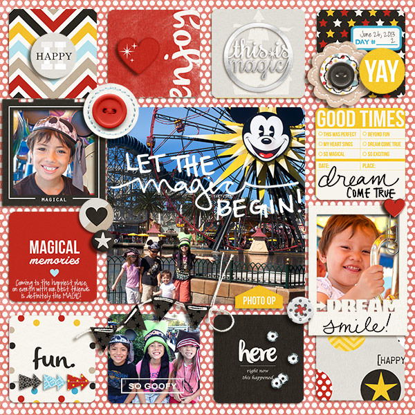 Let The Magic Begin digital pocket scrapbooking page by mikinenn using Project Mouse Basics (No.2) by Britt-ish Designs & Sahlin Studio