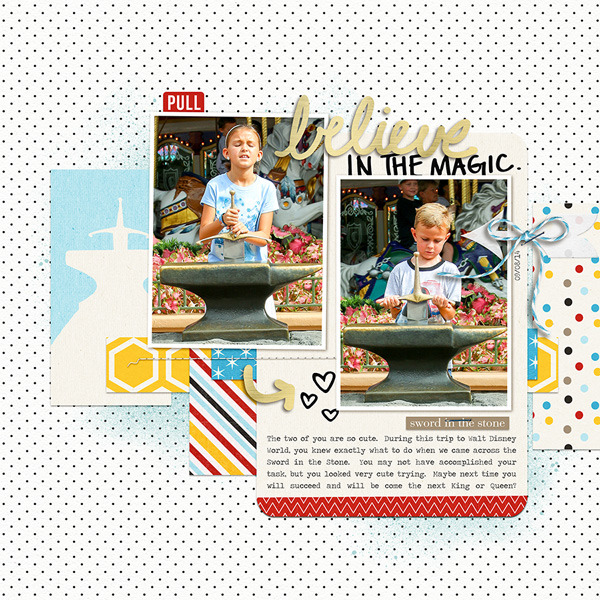 Disney Sword In The Stone digital scrapbooking page by rlma using Project Mouse Basics (No.2) by Britt-ish Designs & Sahlin Studio